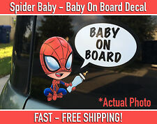 Spiderman Baby on Board Bumper Sticker Decal