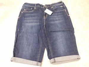 Justice Capri Jeans Simply Low Size 12 1/2 Blue Denim NWT Retail $29.90
