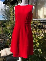 Beautiful HOBBS Red Dress Size 12 Gorgeous Style and GC