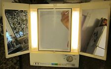 Clairol True to Light VIII LM-3 Fold Out Lighted Make-Up Mirror Adjustable Stand