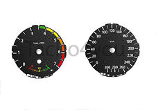 Tachoscheiben für BMW 1er E81 E82 E87 E88 Benziner 300 kmh km/h M1 Carbon Nr 107