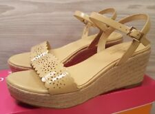 44054860909 Kate Spade New York Mennie Beige Patent Leather Wedge Espadrilles Sandals  Sz 7
