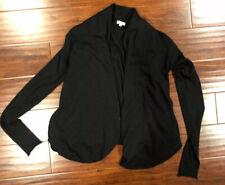 EUC Inhabit Open Cashmere Cardigan Black Size Petite Open-Front Sweater