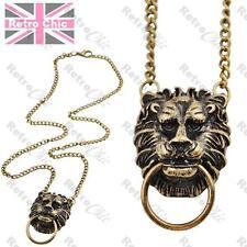 Lion Head Door Knocker Vintage Messing Kette fein kombiniert Anhänger