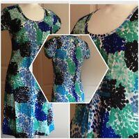 BODEN Summer Beach Dress Breezy Shift Top Tunic Blue Green UK 8-16 RRP £49.99