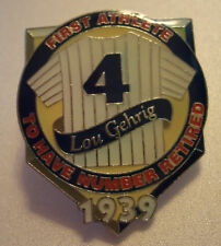 New York YANKEES LOU GEHRIG RETIRED #4 Jersey LAPEL PIN