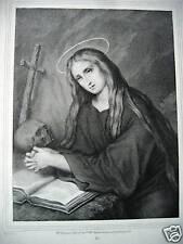 S. Maria Magdala  Magdalena originale 1850 Manche