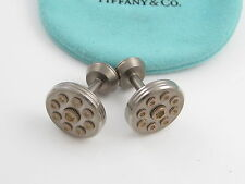 Tiffany & Co RARE Picasso Silver Titanium Turbo Cuff Links Link Cufflinks!