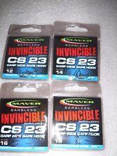 MAVER INVINCIBLE BARBLESS MATCH CS23 F1 CARP MEAT   HOOKS set/4 12/14/16/18