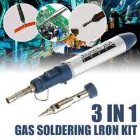 3in1 Mini Cordless Butane Torch Gas Solder Pen Iron Gun Welding Compact