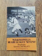 More details for leeds 1973 sevens signed rugby league programme