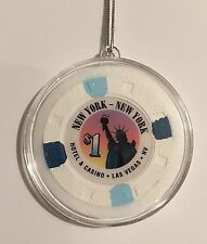 New York Casino Las Vegas $1 Chip Christmas Ornament Holiday Hanging Poker MGM