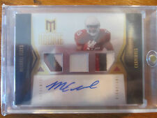 2012 MOMENTUM MICHAEL FLOYD AUTOGRAPHED 3 COLOR PATCH ROOKIE CARD /49 - CARDINAL
