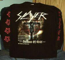 Slayer * God Hates Us All 2001 Tour * Long Sleeve Shirt * Rare * Xl * Authentic