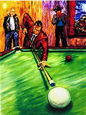 3 ORIGINAL POOL PRINTS Arthur Robins NYC Art Pool Billiards