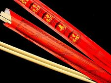 40 FINE DISPOSABLE CHOPSTICKS RED BAG CHINESE BIRTHDAY NEW YEAR PARTY W USAGE