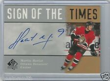 2000-01 SP Authentic Sign of the Times Signature Autograph Martin Havlat AUTO