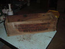 VINTAGE WOOD TOOL BOX CHEST NITCHI PULLER 3 TON 26x8x8 AMERICAN GAGE MFG CO