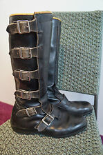 VINTAGE BELSTAFF LEATHER MOTORCYCLE BUCKLES BOOTS SIZE 9