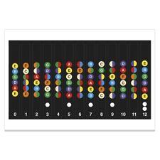 Guitar Fretboard Note Map Label Lovel Fret Stickers Decals Beginner Learner YA9