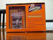 24K Gold Wheaties Babe Ruth replica box, MIB, COA