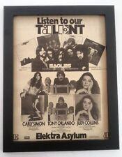 More details for the eagles elektra/asylum 1975*original*poster*ad*framed*fast world ship