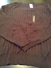 "Haggar Men/'s Twill Knit Quarter Zip Sweater Long Sleeve Shirt Big Size 2X 52/"""