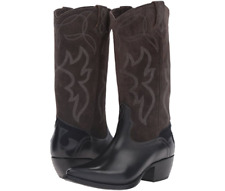 New in Box  FRYE Women's Shane Embroidered Tall Western Boot Charcoal 6.5 $ 428