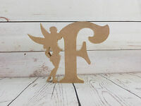 18mm mdf Fairy and Letter Shape - 200mm high - MDF Wooden Craft Blank