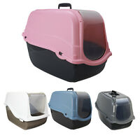 Pets Portable Hooded Cat Litter Box Covered Tray Hand Carry Travel Pet Toilet