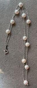 MIKIMOTO 18k White Gold & Pearl Necklace