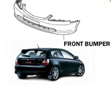 New GENUINE Honda Civic EP2 SPORT FACELIFT Front Bumper PAINTED NIGHTHAWKE BLACK