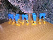 (A 13/12) 5x PIERNAS Azul Atado GUARDIA Soldados ACW OESTE CABALLERO romano