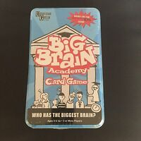 New & Sealed Tin Big Brain Academy Card Game by University Games.