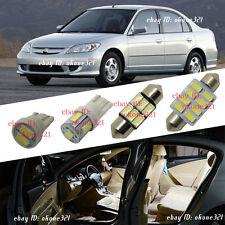 12-pc White Led Light Interior Package Kit For 01-05 Honda Civic Coupe Sedan