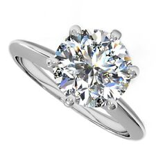 18kt H SI 1.50ct Round Cut Solitaire Diamond Engagement Ring
