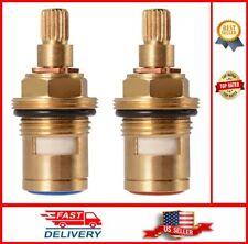 Brass Ceramic Stem Disc Cartridge Faucet Valve Quarter Turn 1/2