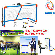 Kids Fun Mini Football Soccer Goal Post Net Ball Toy Game XMAS Gift Birthday UK
