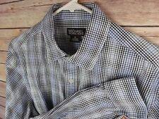 Michael Kors Plaid Dress Shirt Sz M EXC Condition   (H)