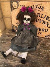 OOAK DOD Sitting Flower Spiderweb Creepy Horror Doll Art by Christie Creepydolls
