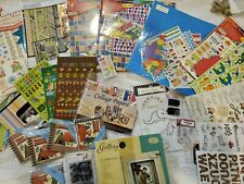 Wholesale Huge Lot of Scrapbook Items Kits/Stickers/Embellishme nts/Paper
