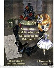 Lady Valentin Misfits Gothic Peculiar Adult Colouring Book Whimsical Odd Fantasy