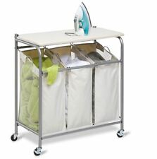 Laundry Hamper Basket Ironing Board Clothes Washing Bag Storage Organizer  Bin