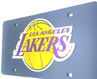 Los Angeles Lakers  LASER CUT  Car License Plate Black   Must Have Man Cave