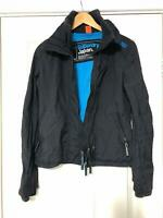 Superdry Windcheater Black Blue Jacket Size Small Womens Great Condition (D796)