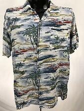 David Taylor Collection mens shirt hawaiian waikiki button up pocket casual XL