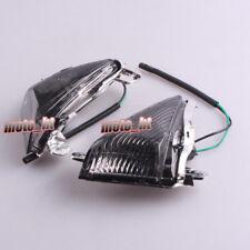 Front Turn Signals Lenses Fits Kawasaki ZX636/ZX6R 2005-2010 & ZX14R 06-11 Smoke