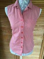 CLASSIC LAURA ASHLEY RED AND WHITE CHECK BLOUSE SHIRT SIZE 12: BEAUTIFUL