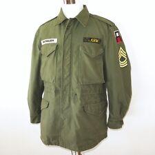 VINTAGE ORIGINAL US ARMY JACKET FIELD M-1951 M51 MEDIUM REG FIRST ARMY PATCHE