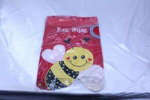 """Bee Mine Garden Flag 2 Sided Polyester with Applique 12 1/2"""" x 18"""""""